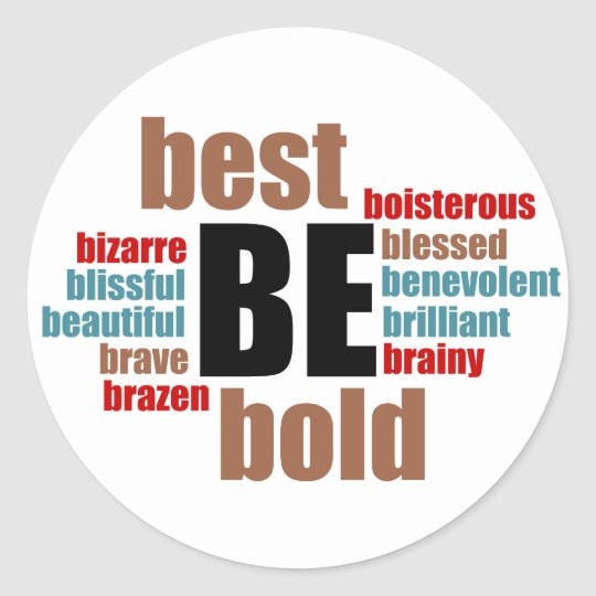 Be Your Best Inspirational Round Sticker