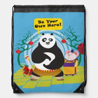 Be Your Own Hero Drawstring Bag