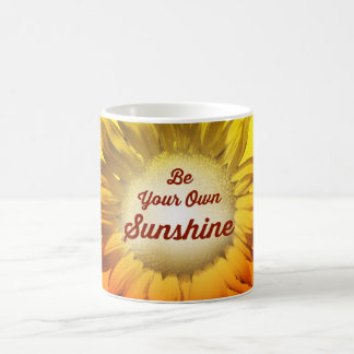 Be Your Own Sunshine Sunflower Red Yellow Ombre Coffee Mug