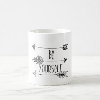 Be Yourself Arrows Basic White Mug