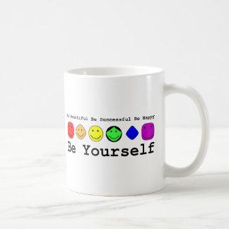 Be Yourself Basic White Mug