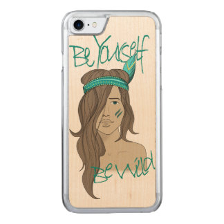 Be yourself be wild carved iPhone 8/7 case