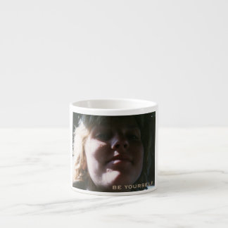 be yourself espresso mug