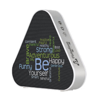 BE Yourself Inspirational Word Cloud Bluetooth Speaker
