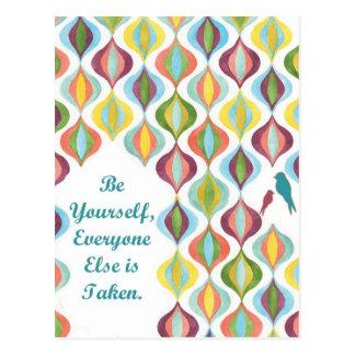 Be Yourself:  Moroccan Retro Postcard