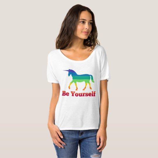 Be Yourself Rainbow Unicorn T-Shirt