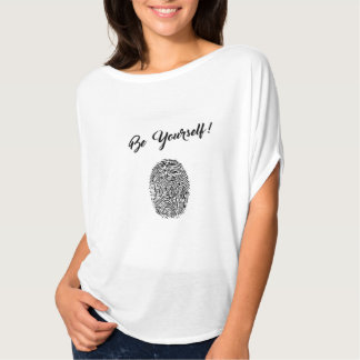Be yourself tshirt design