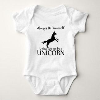 Be Yourself Unicorn Baby Bodysuit