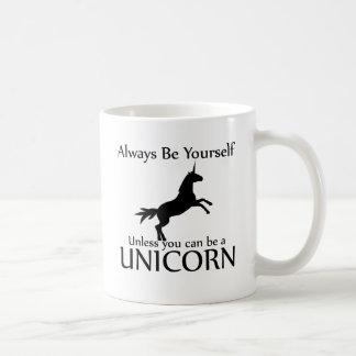 Be Yourself Unicorn Basic White Mug