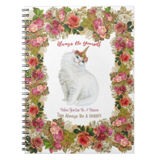Be Yourself Unicorn Cat Notebook