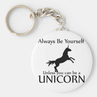 Be Yourself Unicorn Key Chains