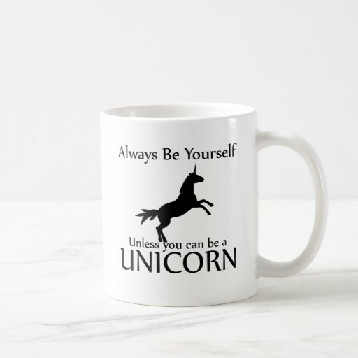 Be Yourself Unicorn Mugs