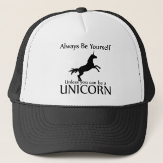 Be Yourself Unicorn Trucker Hat