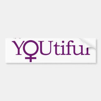 Be YOUtiful Bumper Sticker