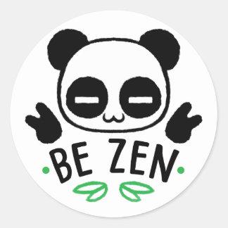 Be Zen Classic Round Sticker