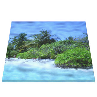 beach 03 stretched canvas print