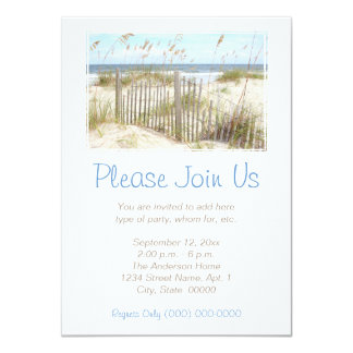 Beach 11 Cm X 16 Cm Invitation Card