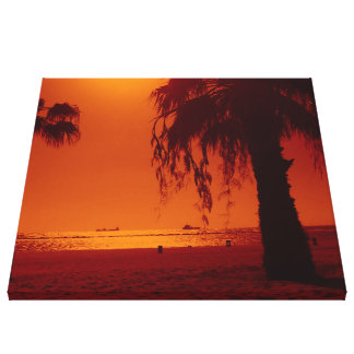 beach 14 stretched canvas print