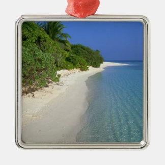 Beach 4 Silver-Colored square decoration