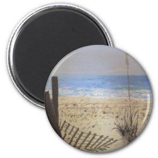 Beach 6 Cm Round Magnet