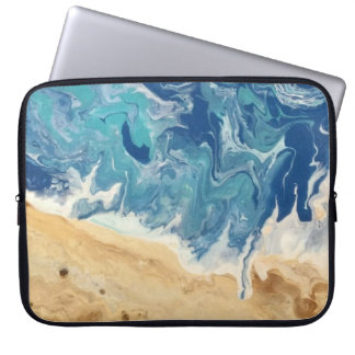 Beach Abstract Art Laptop Sleeve