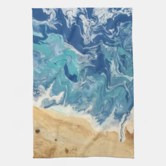 Beach Abstract Kitchen Towel