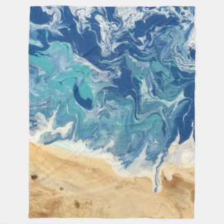 Beach Abstract Large Fleece Blanket