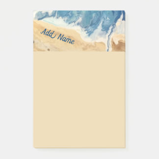 Beach Abstract Personalised Post it Note 4x6