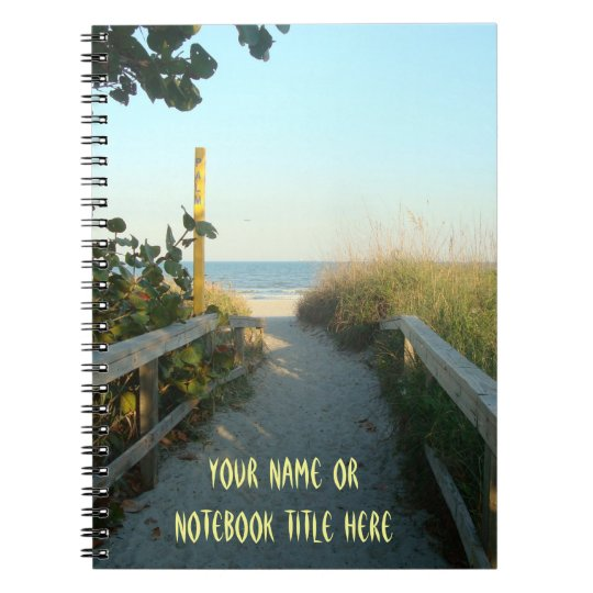 Beach Access Personalised Notebook