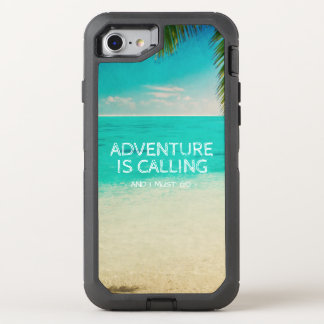 Beach Adventure is Calling Travel Quote Phone OtterBox Defender iPhone 8/7 Case