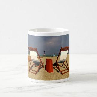 Beach after rain basic white mug