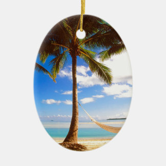 Beach Aitutaki Cook Islands Christmas Ornament