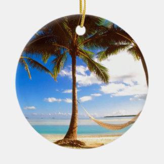 Beach Aitutaki Cook Islands Christmas Ornament
