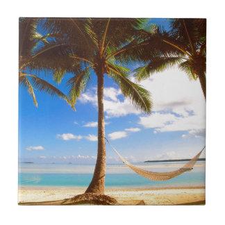 Beach Aitutaki Cook Islands Ceramic Tile