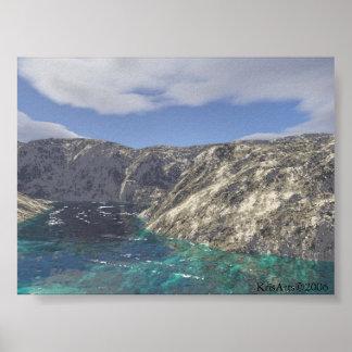 beach algae poster