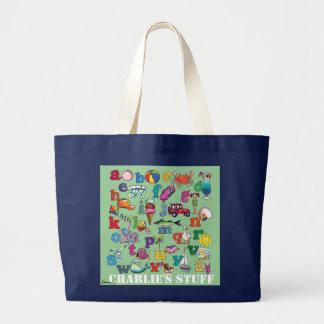 Beach alphabet- baby tote