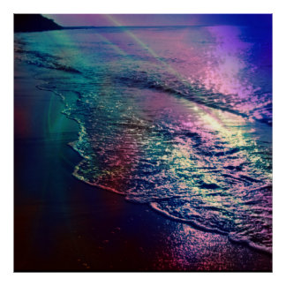 Beach, altered colors 03.jpg poster