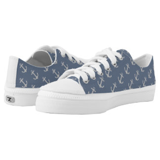 Beach Anchor womens low top shoes Printed Shoes