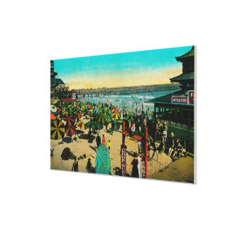 Beach and Bath House, Long BeachLong Beach, CA Canvas Print