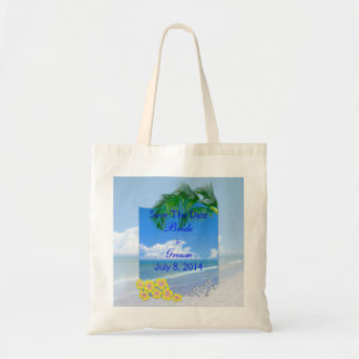 Beach And Blue Skies Wedding Save The Date Canvas Bags