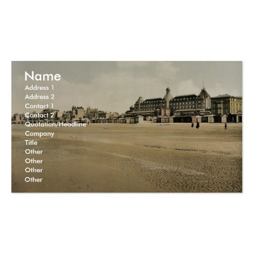 Beach and casino, Malo-les Bains, France vintage P Pack Of Standard Business Cards