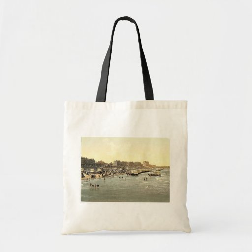 Beach and ladies' bathing place, Margate, England Tote Bag