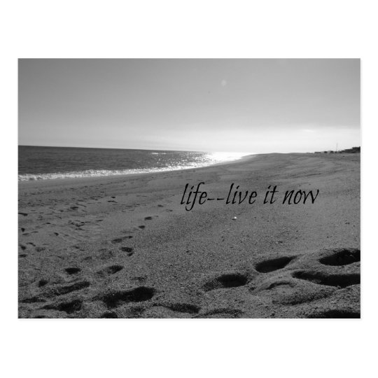Beach and Life Quote Postcard