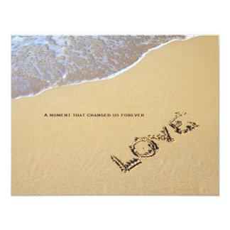 Beach and Love Quote Wedding Invitation