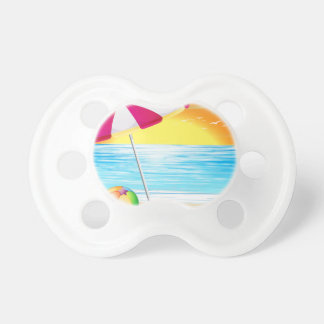 Beach and ocean baby pacifiers