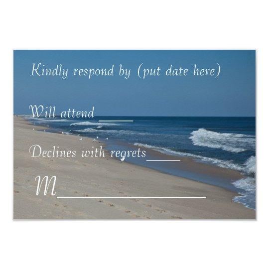 Beach and Ocean RSVP card