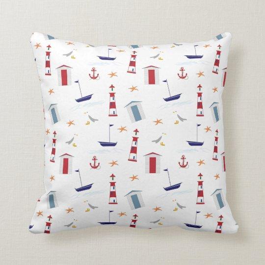 Beach and ocean themed cushion