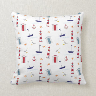 Beach and ocean themed cushion