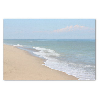 Beach and ocean waves tissue paper
