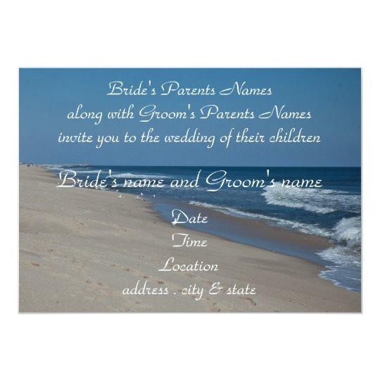 Beach and Ocean Wedding Invitation